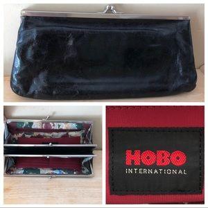 Hobo Wallet Black Leather